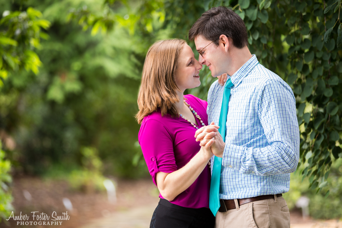 Amber Foster Smith Photography | Raleigh Engagement Photographer| JC Raulston Arboretum