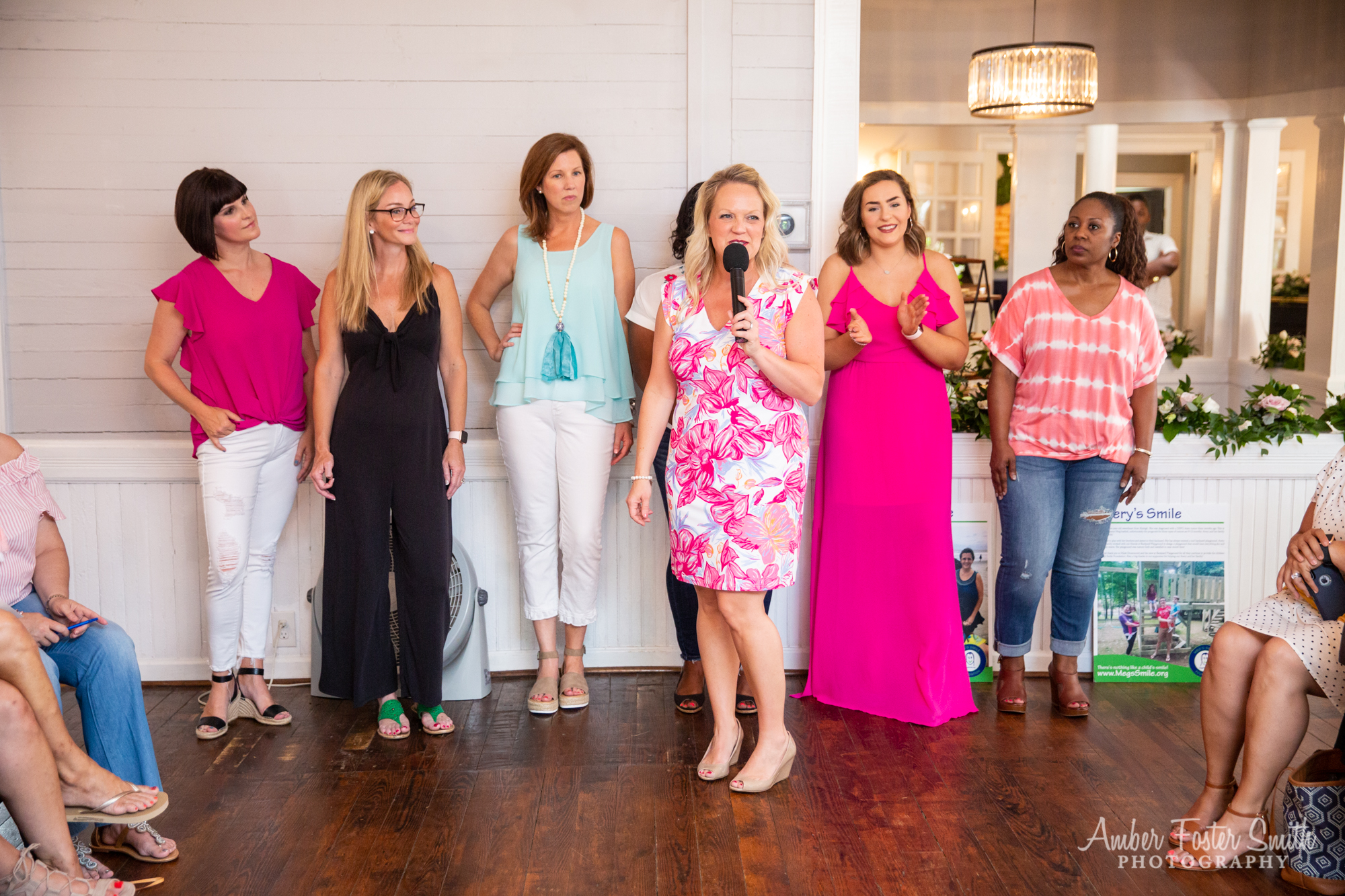 Group of women at a fashion show