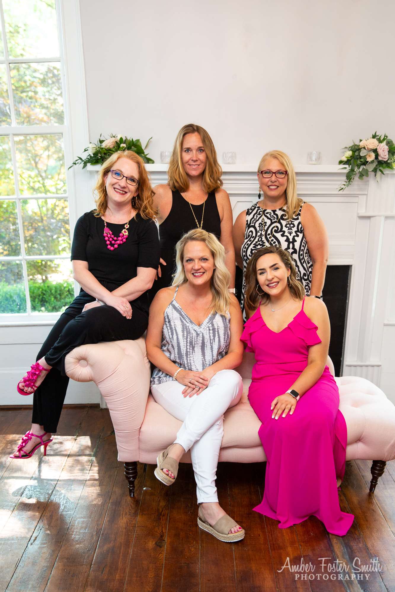 Boutique staff team group portrait